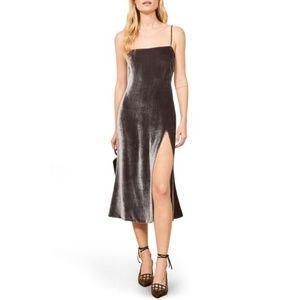 Reformation Ariana  90's Slipdress In Caviar XL